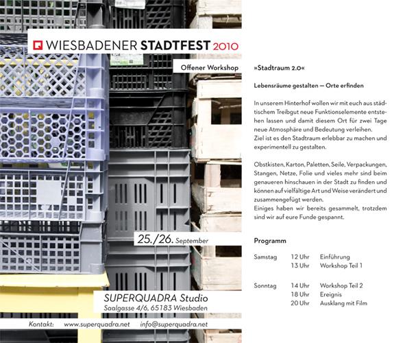 Workshop zum Wiesbadener Stadtfest